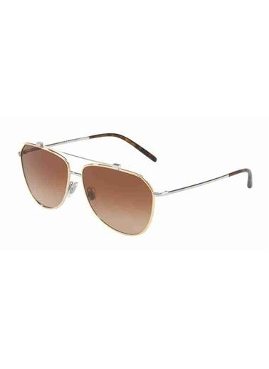Dolce&Gabbana Dolce & Gabbana 2190 129713 59 Ekartman Unisex Güneş Gözlüğü Altın